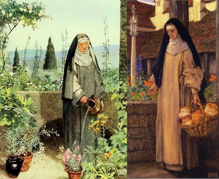 Королева Гвинивера, изображенная в образе монахини.